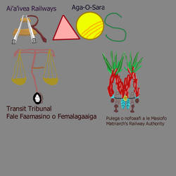 Four public transport related Nu'u-Sara logos