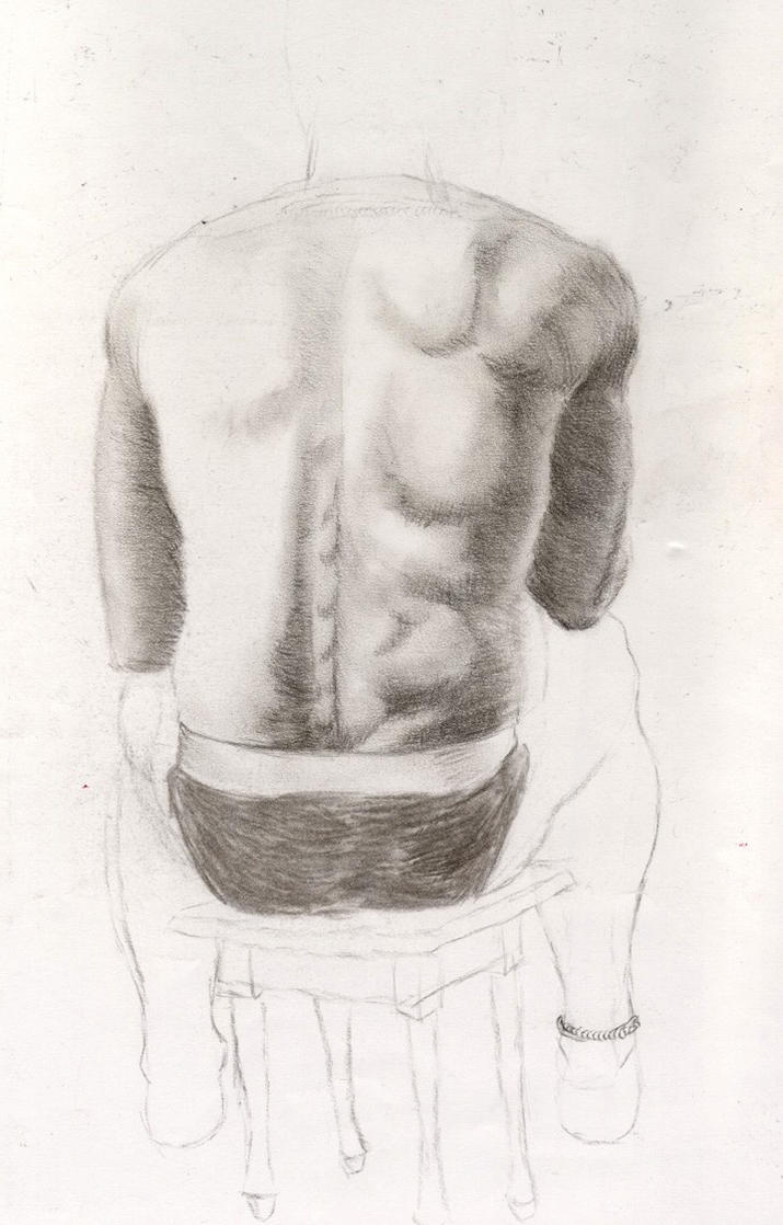 Figure drawing-Man's back by dolph21r on DeviantArt
