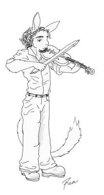 Haoma playing fiddle
