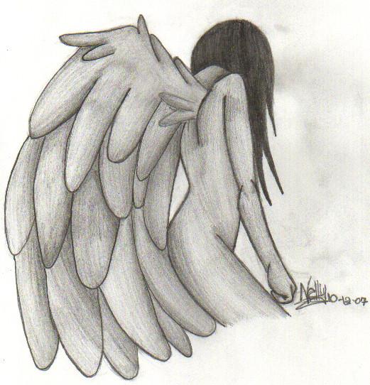 Sad angel by jenjentastique