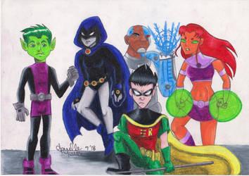 Teen Titans by JenJentastique
