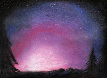 Star kissed sky by JenJentastique