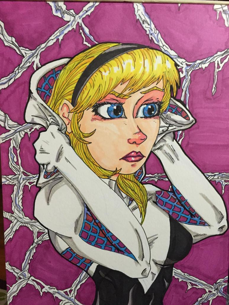 Spider-Gwen Colored by MattyMo