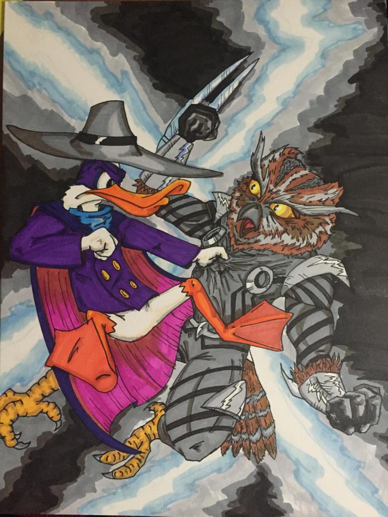 Darkwing vs The Court of Owls by MattyMo