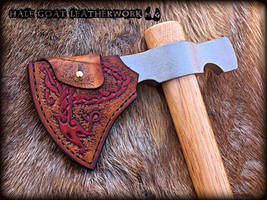 Nordic Axe Sheath by Half-Goat