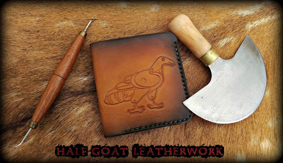 Pictish Eagle Wallet by Half-Goat