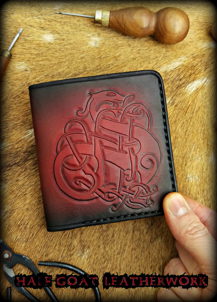 Viking Urnes Wallet by Half-Goat