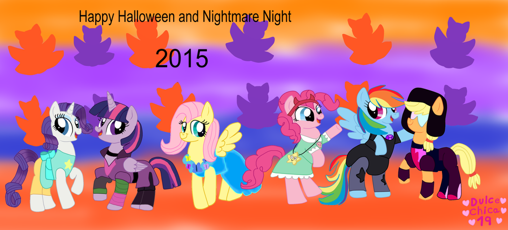 My Little Pony Happy Halloween 2015 by Dulcechica19 on DeviantArt