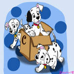 Dalmatian playtime (coloring page)
