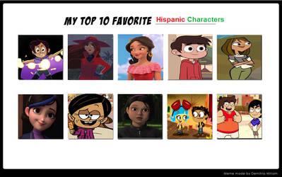 My Top 10 favorite Hispanic Cartoon Characters