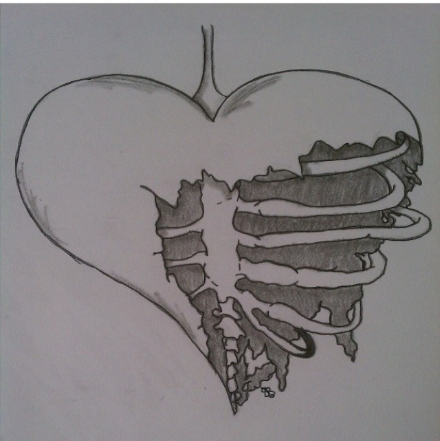 Realistic Broken Heart Tattoo Designs