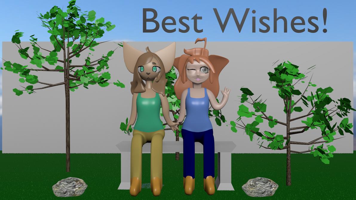 Best Wishes to SimplyLaurenArt by blenderenderer