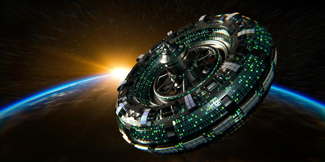 Space Station by blenderenderer