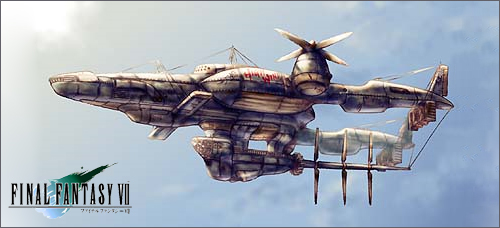 Final Fantasy VII airship by magawolaz