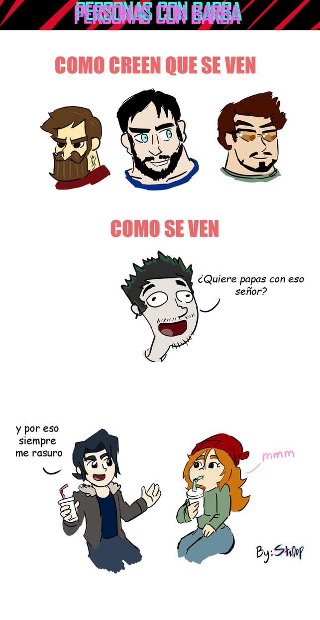 Personas con Barba comic by StroopDOG