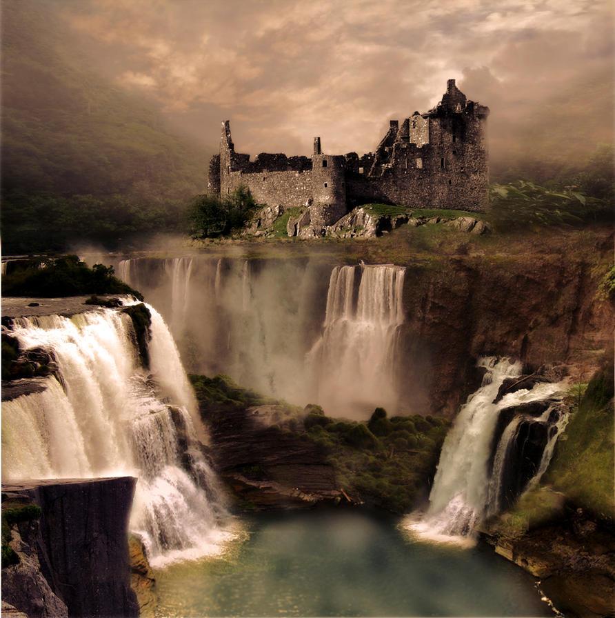 landscapes castles fantasy art - photo #40