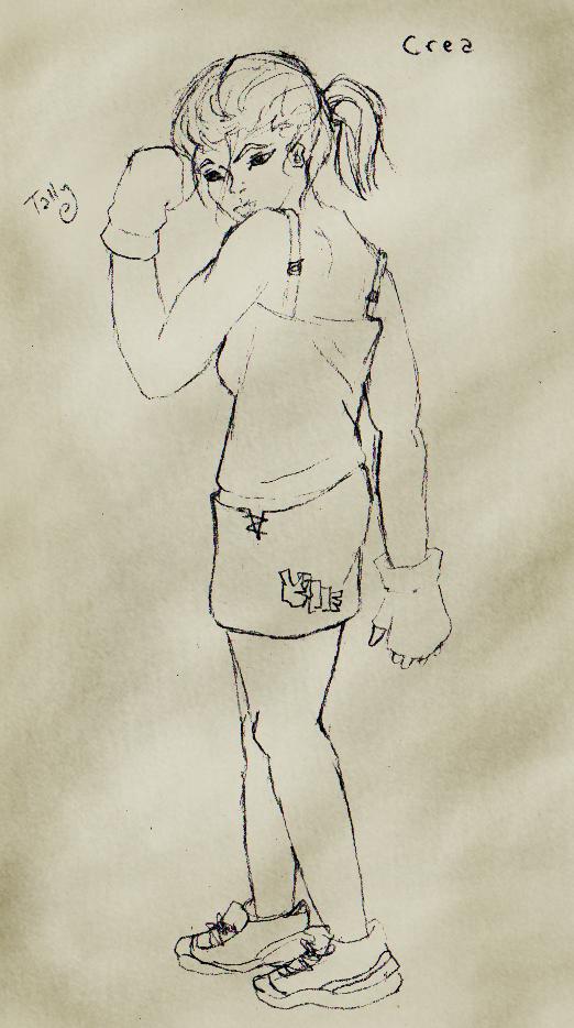 Crea Nelson -concept sketch- by Kid-Apocalypse