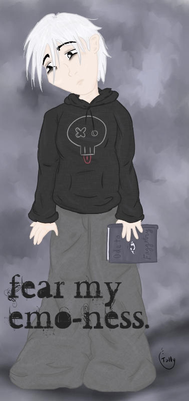 fear my emo-ness. by Kid-Apocalypse