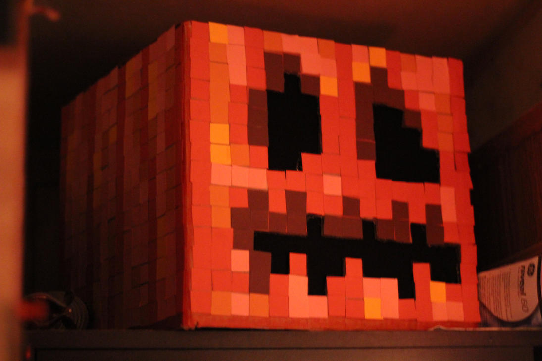 Minecraft Pumpkin by SaoirseRoisin