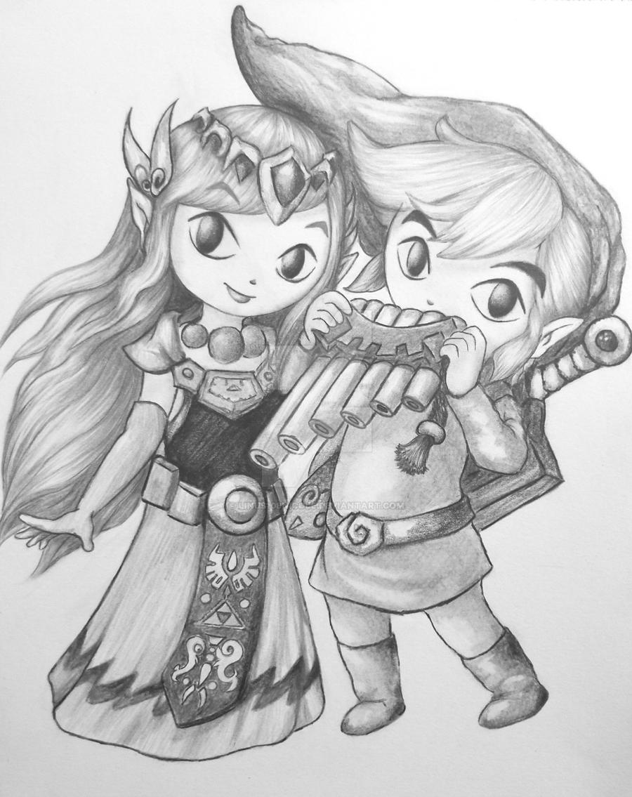Link and Zelda by linus108Nicole