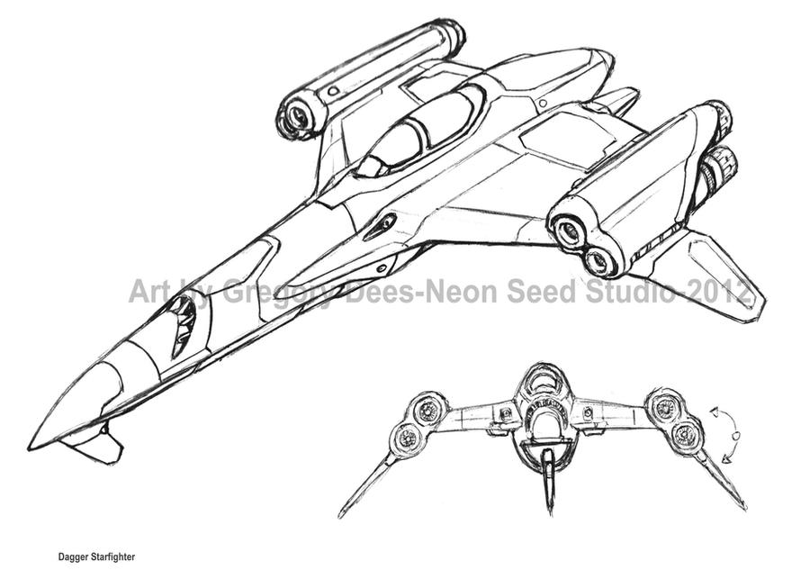 Dagger Starfighter by GTDees
