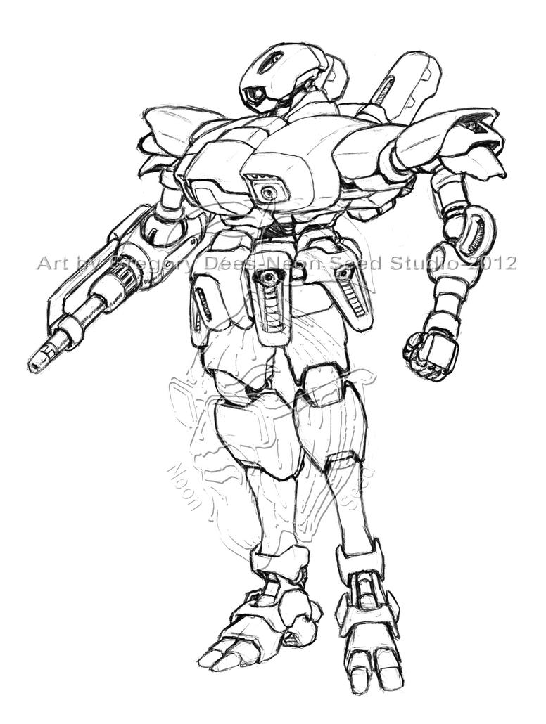 Racher Battlesuit Concept by GTDees