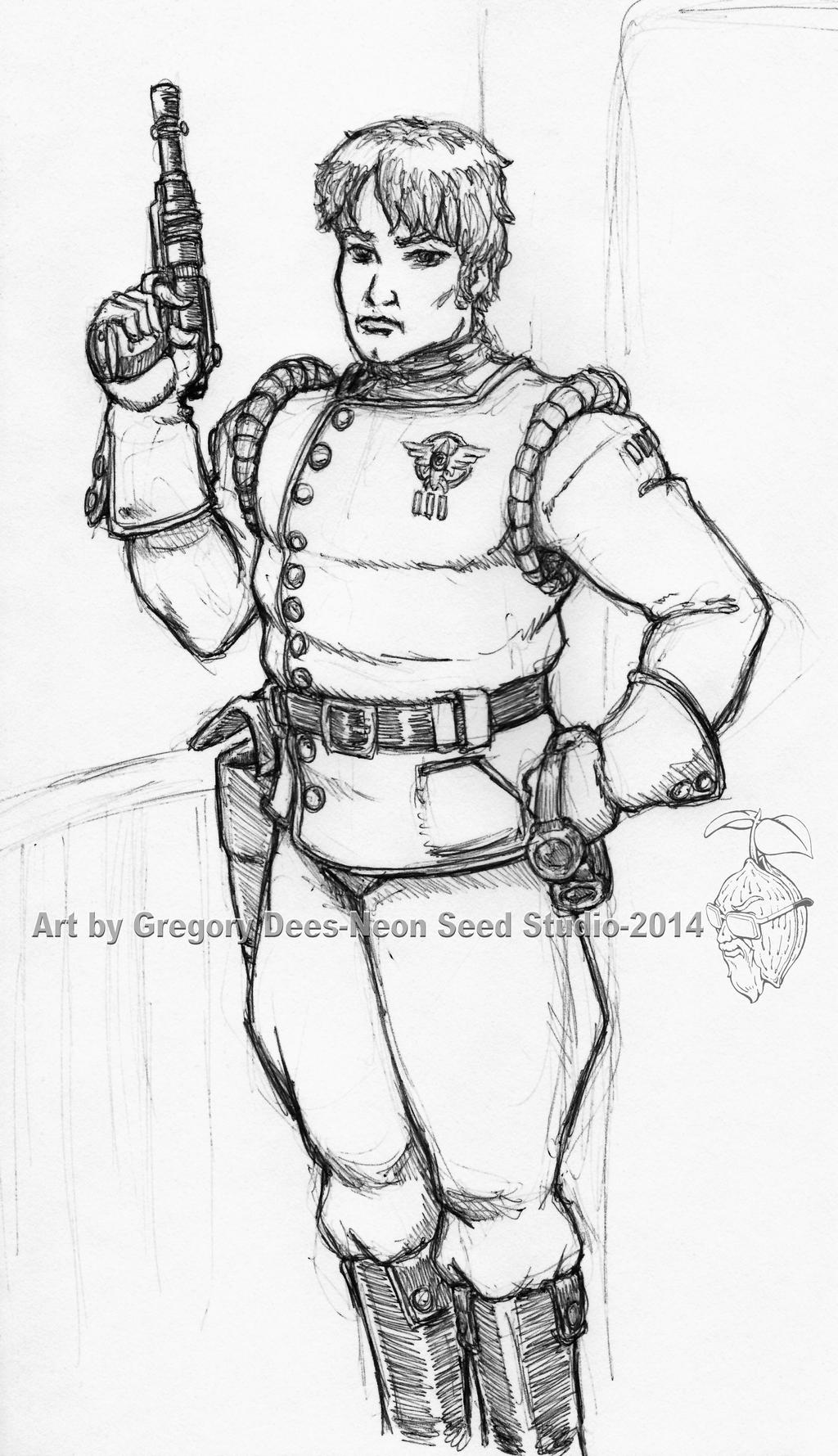 Royal Space Force Officer Sketch by GTDees