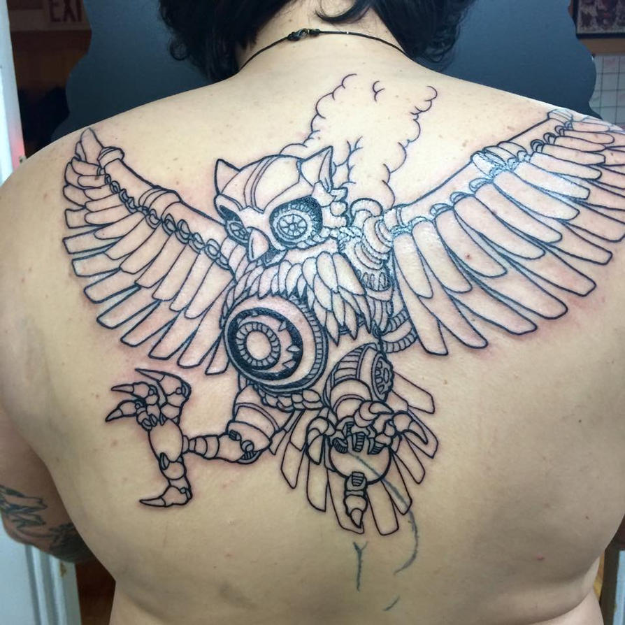 Steam Owl Tattooed by GTDees