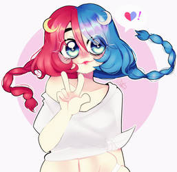 Cutie red and blue