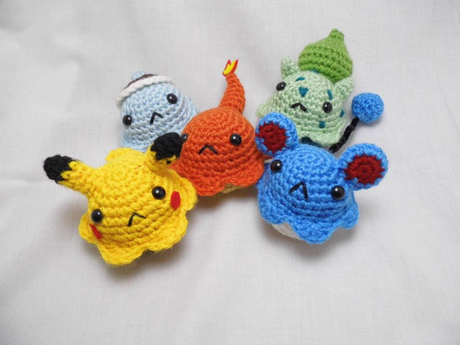 Amigurumi Tutorial Pokemon : Pokemon Amigurumi Cupcakes by love-your-spleen on DeviantArt