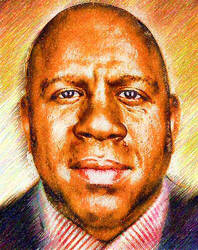 Magic Johnson by peterpicture