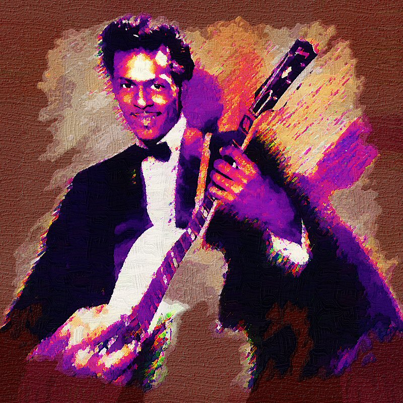 Chuck Berry by peterpicture