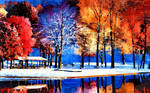 AUTUMN INTO WINTER AT THE LAKE