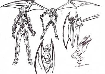 Neo Aswang mech Nova Hell Wing by psyclonius
