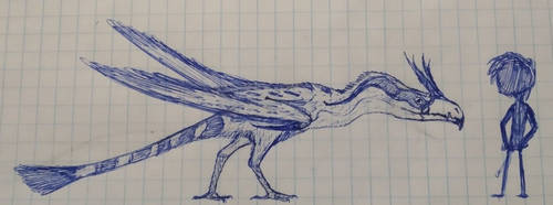Giant moster bird