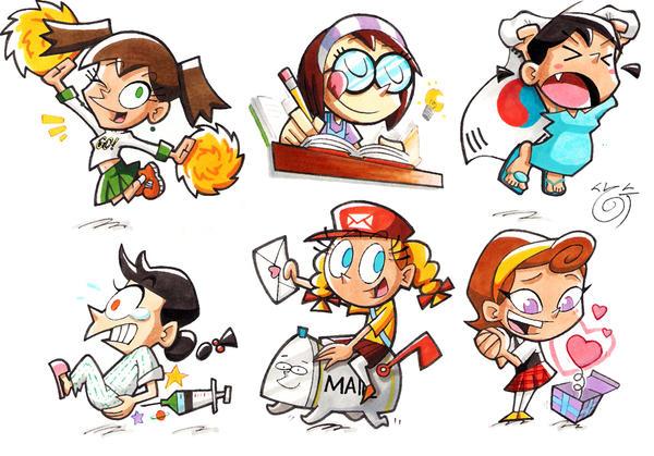 cartoon girls by ~ssgba1380 on deviantART