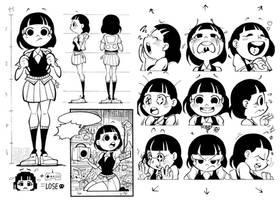 School Girl Charcter Design