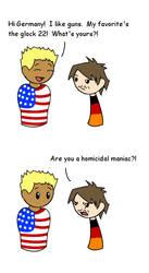 America: Homicidal Maniac? by lucida-lownes