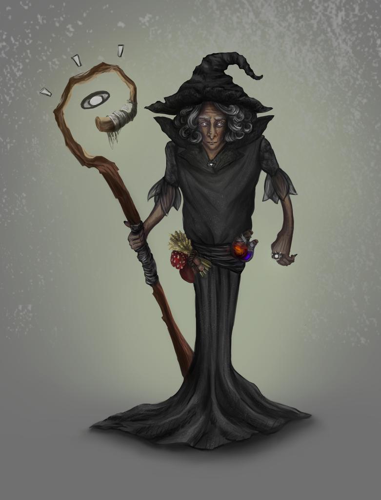 Concept-art/ Dark Witch by Ruiu11