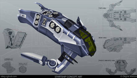 Startship Concept Art by Obey-art