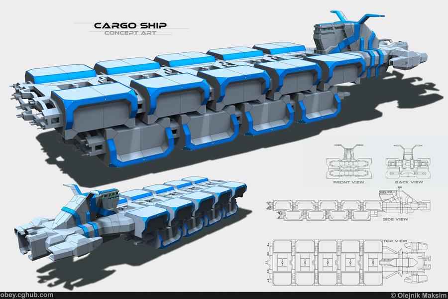 Big cargo ship by Obey-art