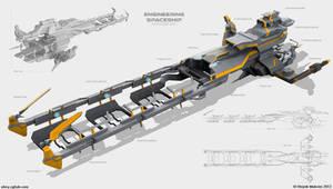 Engineering spaceship by Obey-art