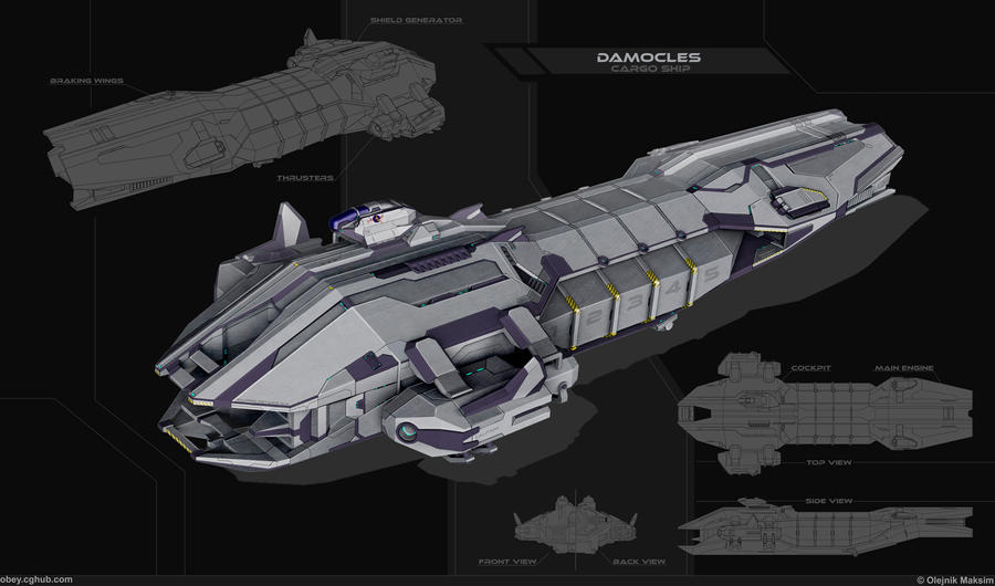 DAMOCLES - cargo ship by Obey-art