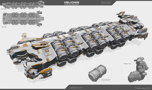 Helionis - refueling spaceship