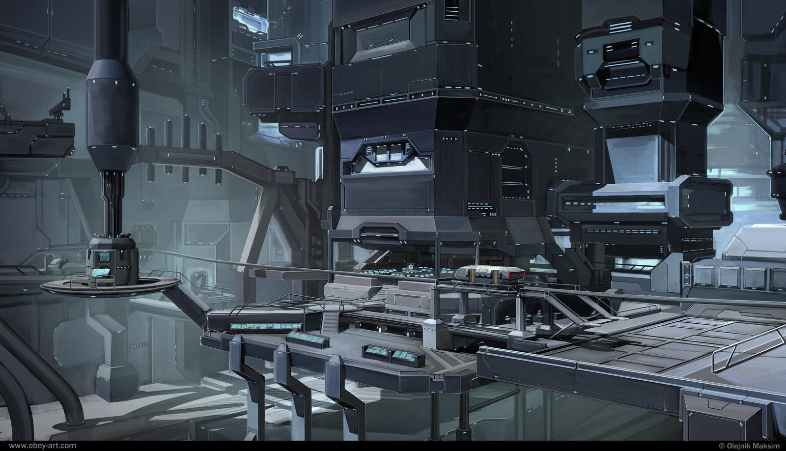 Interior scientific research station by Obey-art