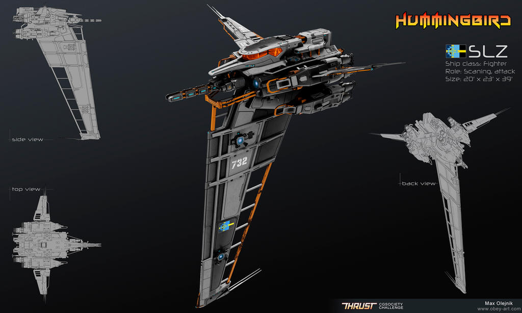 Hummingbird - Fighter by Obey-art