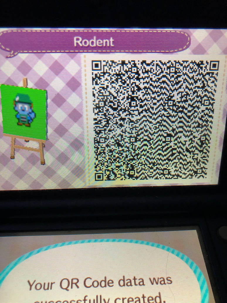Rodent Pixel Art Animal Crossing New Leaf Code By