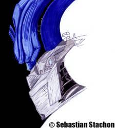 Optimus Prime Copicsketch by Stachi