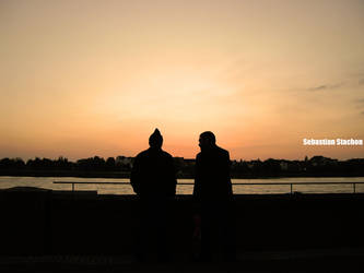 Sunset in Duesseldorf...part I by Stachi