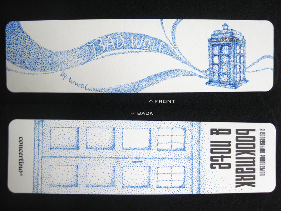 Doctor Who tardis bookmark by wwei